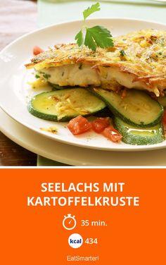 Seelachs mit Kartoffelkruste - smarter - Kalorien: 434 kcal - Zeit: 35 Min. | eatsmarter.de