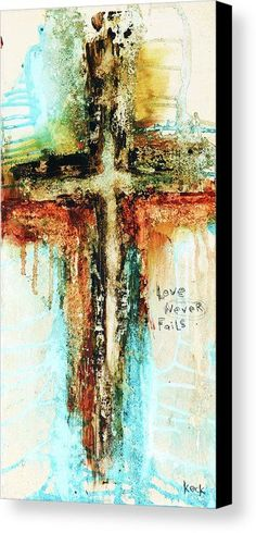 CROSS ART ABSTRACT PAINTING BY MICHEL KECK