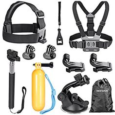 Neewer - Kit 8-en-1 de accesorios para cámaras de deporte…