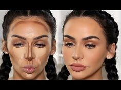 HOW I CONTOUR & HIGHLIGHT, step by step contouring and highlighting, the best video for contouring, easy steps for contouring, full makeup tutorial Highlighter Makeup, Contour Makeup, Glam Makeup, Makeup Inspo, Eye Makeup, Cakey Makeup, Brown Makeup, Beauty Makeup, Makeup Tricks