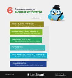 Seis trucos para conseguir clientes en Twitter... #SocialMediaOP #Marketing