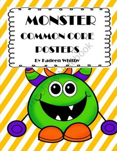 Monster Munchies Common Core Posters First Grade product from Kadeen-Whitby on TeachersNotebook.com