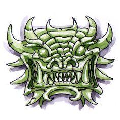 Masque Jade Aquarelle sur bristol #jade mask