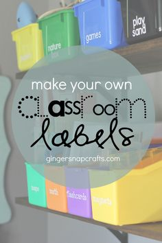 DIY Personalize Back to School Classroom Labels with Cricut {tutorial} Classroom Labels, Classroom Projects, School Classroom, Kindergarten Classroom, Classroom Ideas, Cricut Tutorials, Cricut Ideas, Teacher Signs, School Labels
