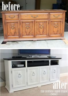 Turn an old dresser into a TV stand - refurbishing!