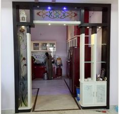 Spectacular Home Design Architectural Drawing Ideas Room Partition Wall, Living Room Partition Design, Room Partition Designs, Room Door Design, Kitchen Room Design, Bedroom Bed Design, Bedroom Furniture Design, Entrance Design, Kitchen Designs