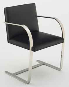 Brno Chair Ludwig Mies van der Rohe (American, born Germany. 1886–1969) 1929-30. Chrome plated steel and leather, 31 1/2 x 23 x 24 (80 x 58.4 x 61 cm). Manufactured by Knoll International, Inc., New York, NY. Gift of Knoll International, Inc., USA. © 2013 Artists Rights Society (ARS), New York / VG Bild-Kunst, Bonn