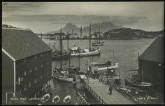 BODØ. Fint motiv havnebassenget med småbåter og Landegode i bakgrunnen (J.E.Nahlin).