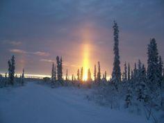 Alaskan Sunset Beautiful Scenery
