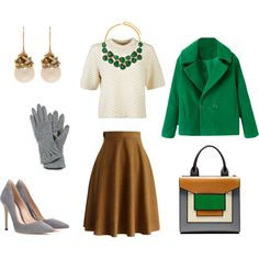 Green, grey, ivory mixology by smirnoff-designs on Polyvore featuring polyvore, fashion, style, Tory Burch, Chicwish, Gianvito Rossi, Pierre Hardy, Ruth Tomlinson, Kenneth Jay Lane and Echo