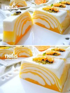 Orange Zebra Dessert That Admires Everyone With Its Taste And Appearance - Delicious Recipes Easy Dinner Recipes, Easy Meals, Dessert Recipes, Patisserie Design, Desserts Drawing, Recipes With Chicken And Peppers, Orange Dessert, Banana Bread Recipes, Turkish Recipes