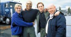 Amanda, Chris, Michael, and Don on location