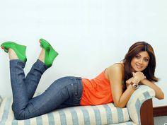 Shilpa Shetty Laying On Couch