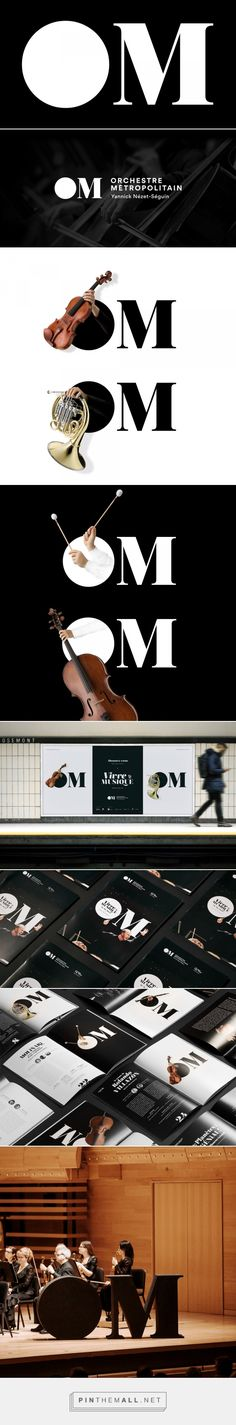 Brand New: New Logo and Identity for Orchestre Métropolitain by byHaus - created via https://pinthemall.net