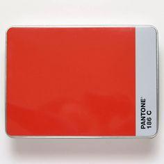 Pantone storage box Pantone Cmyk, Pantone Universe, Packaging Design, Tin, Clever, Artsy, Objects, Boards, Branding