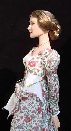 """Regency day dress for 16"""" doll Tyler Wentworth, ooak"""