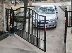 Electric Driveway Gates, Wrought Iron Driveway Gates, Metal Gates, Front Gates, Entrance Gates, Electric Gates, Driveway Gate Openers, Driveway Fence, Driveway Entrance
