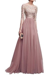 best=Robe Longue Robe Rose en Chiffon Et Dentelle Col Rond , Shop Sparkly Prom dresses and sequin formal dresses at Simply Dresses. Evening Dress Long, Long Gown Dress, Evening Dresses Online, Long Summer Dresses, Cheap Evening Dresses, Tulle Dress, Lace Dress, Long Dresses, Party Dresses