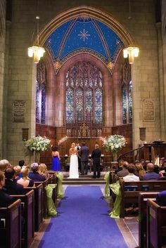 Beautiful set for Lord of Rings wedding -- Fifth Avenue Presbyterian