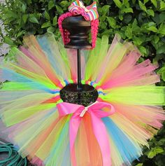 Summer Time Tutu Set   Tutu and matching bow  Perfect by TutuLand, $35.00