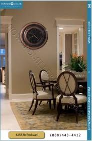 """Howard Miller Oversized Contemporary Quartz Wall Clock 625538-This Howard Miller 29-1/2"""" oversized gallery wall clock features a dramatic, profiled, metal case with a unique, brown brushed finish"""