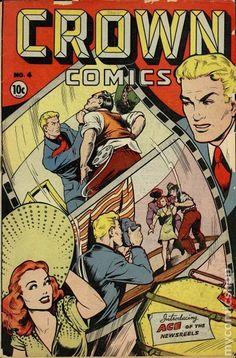 Crown Comics #4 by Matt Baker.