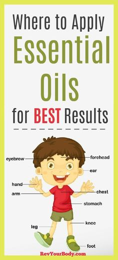 Where to apply essential oils to your body for best FAST results. #essentialoils