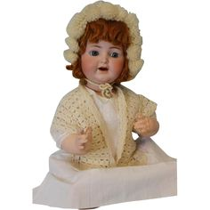 """1910 21"""" Antique K * R Simon Halbig #126 Character Baby Doll Red Head from turnofthecenturyantiques on Ruby Lane"""