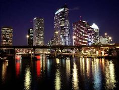 The beautiful Tampa Bay skyline at night!  Looking to move to Tampa?  Let us know!