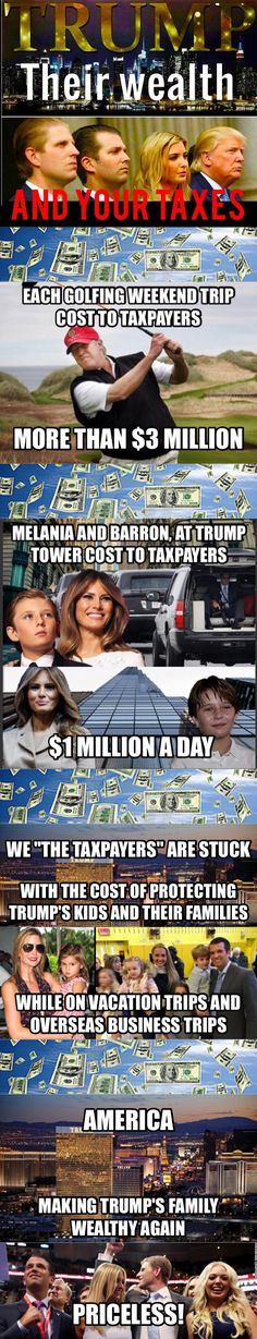 We are witnessing such of scam! While the real priorities are being trashed our taxes are going to Trump's pockets #Incompetent45#NotLegitimate#CompulsiveLiarTrump