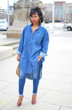 I absolutely love this #denim look!  Yes, yes, yes!