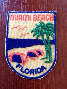 Miami Beach Florida Vintage Travel Patch by HeydayRetroMart, $4.00 ...