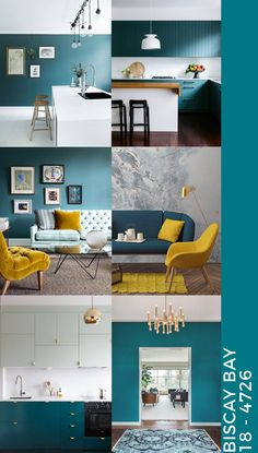 Teal interiors how to decorate with Biscay Bay unprogetto teal biscaybay Teal Living Rooms, Living Room Color Schemes, New Living Room, Interior Design Living Room, Home And Living, Living Room Designs, Living Room Decor, Teal Room Decor, Teal Color Schemes