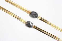 "Bracelet ""Etoile filante"" doré et pierre tourmaline via Tikiti. Click on the image to see more!"