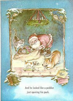 Tasha Tudor Illustrated Welsh Corgi Dog Night Before Christmas 1975 Book 0689813759 | eBay