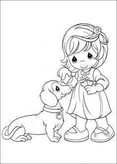 coloring page Precious moments Kids-n-Fun