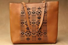 Pendleton® Laser Cut Tote, Walnut Leather Fringe, Cowhide Leather, Cute Purses, Purses And Bags, Fashion Bags, Fashion Purses, Textiles, Hippie Bags, Cowboy Outfits