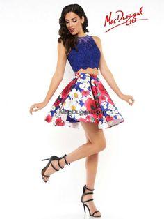 48575N   Mac Duggal Homecoming, Hoco, Homecoming dress, Hoco dress, Halter neck dress, Sparkle dress, Homecoming week, Homecoming 2016, Hoco2k16, Two piece homecoming dress, Lace dress, Beaded