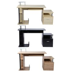 Home Computer Desk Office Desk Modern Desktop Computer Workstation Writing Desk With Storage Rack