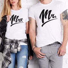 Mr Mrs T-shirts Mr and Mrs Couples Shirts Matching by LIONTSHIRTS