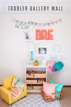 DIY Toddler Gallery Wall room makeover by @createoften for @heidiswapp