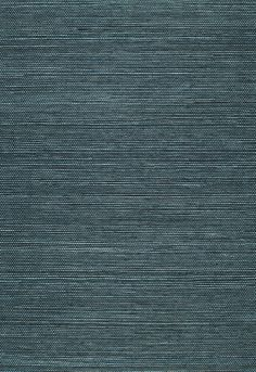Wallcovering / Wallpaper | Haruki Sisal in Peacock | Schumacher  $71 single roll 4 yards per roll