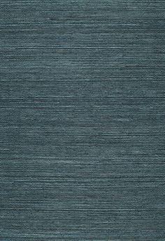 office? Wallcovering / Wallpaper | Haruki Sisal in Peacock | Schumacher