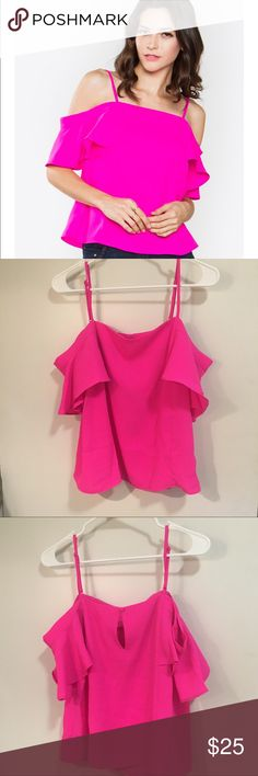 NWT Sugarlips off the shoulder hot pink top This gorgeous top is perfect for summer!! It would look so good with white jeans and some sandals. It is brand new and true to size. ASK QUESTIONS Sugarlips Tops Blouses