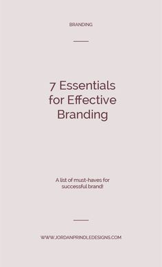 7 Essentials for Effective Branding — Jordan Prindle Designs Brand Design, Logo Design, Successful Business Tips, Small Business Marketing, Media Marketing, Digital Marketing, Brand Style Guide, Brand Story, Freelance Graphic Design