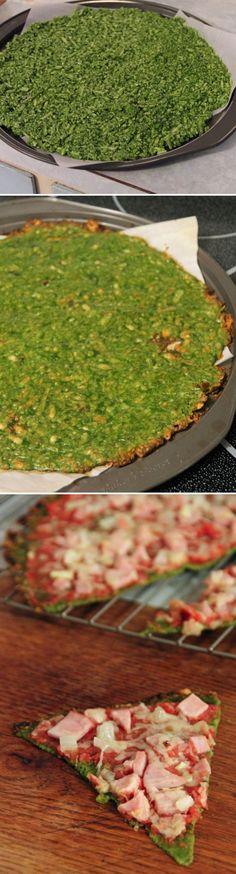 Spinach Crust Pizza