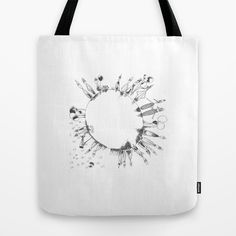 GLOBE on the tote bag in two sizes. Lets get eco friedly!