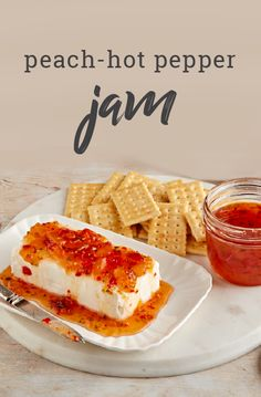 Excite your taste buds with our delicious Peach-Hot Pepper Jam. Our sweet and spicy Peach-Hot Pepper Jam is one of our favorite summertime spreads. Jam Recipes, Canning Recipes, Tuna Recipes, Detox Recipes, Summer Recipes, Recipies, Tapas, Pepper Jelly Recipes, Banana Pepper Jelly