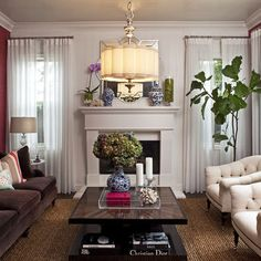 Living Room Brown Sofa Design, Pictures, Remodel, Decor and Ideas