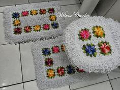 Wilma Crochê: Jogo de banheiro em crochê